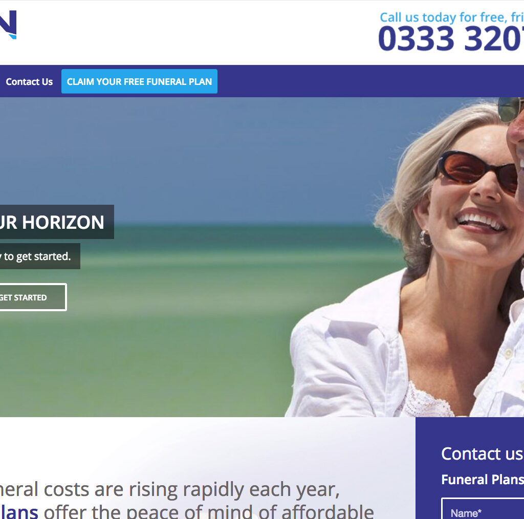 Horizon Funeral Plans Website