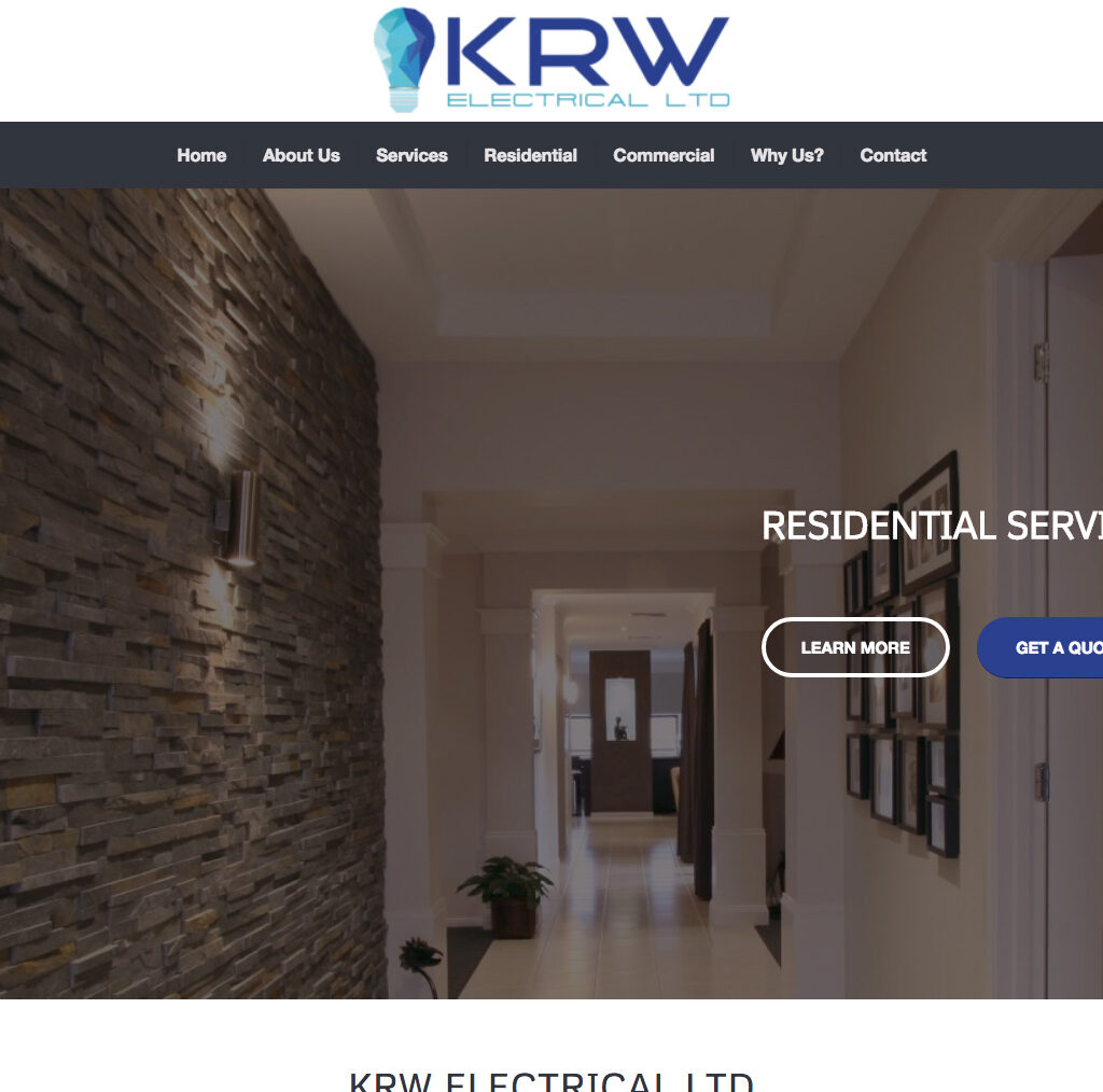 KRW Electrical LTD Website