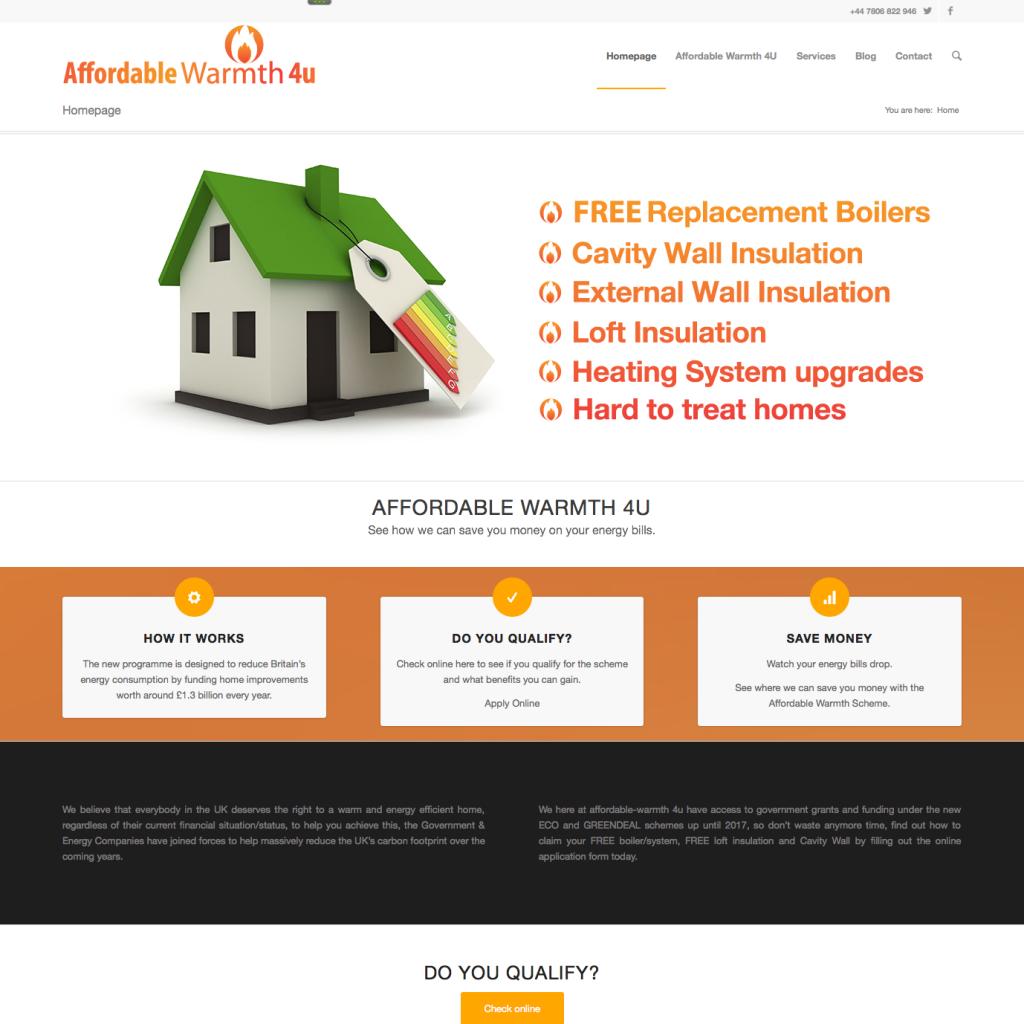Affordable Warmth4U Website