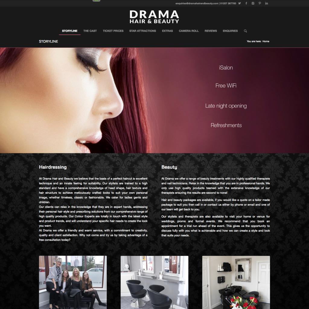 Drama Hair and Beauty Website